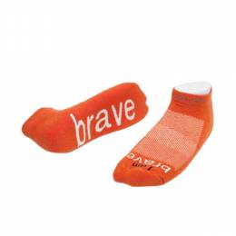 notes to self I am Brave Low Cut Socks