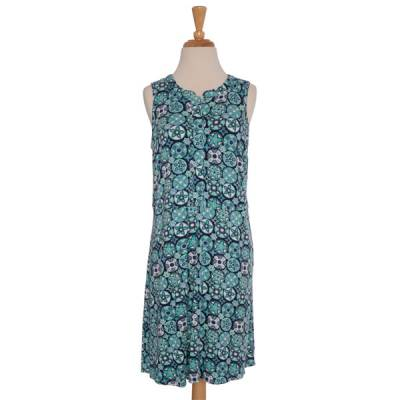 Green Medallion Print Sundress