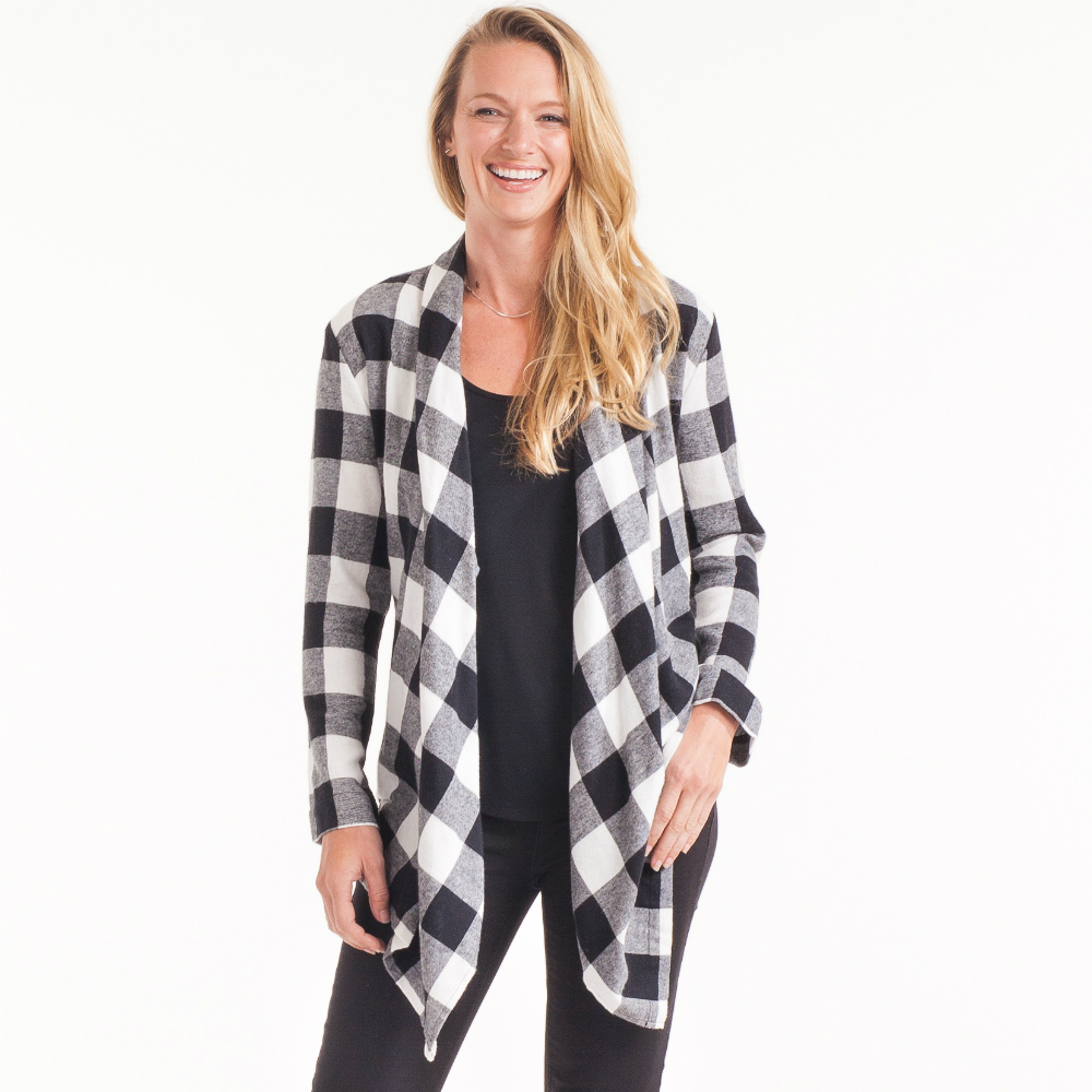 Giftcraft Buffalo Plaid Cardigan