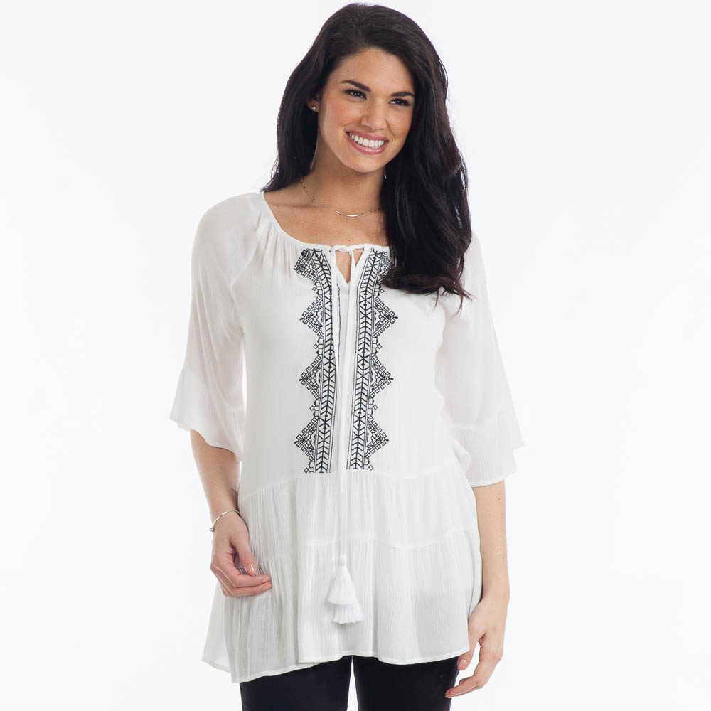 Giftcraft Embroidered Peasant Top