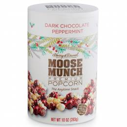 Henry and David Dark Chocolate Peppermint Moose Munch Canister