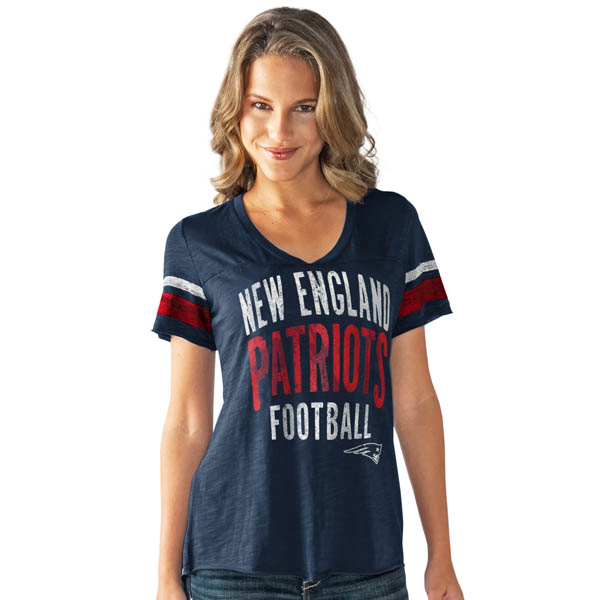 G-III Sports New England Patriots Women's Motion Tee from Touch by Alyssa Milano