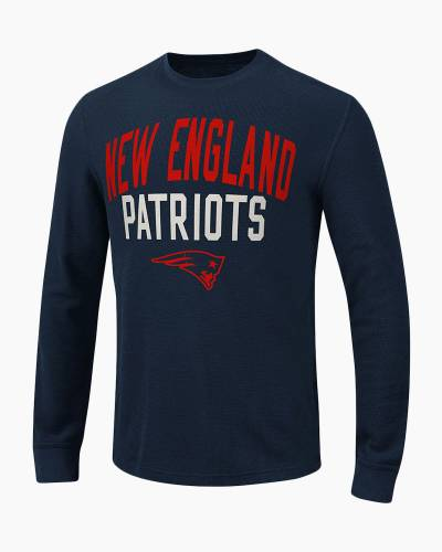 New England Patriots Men's Ringer Thermal Long Sleeve Top