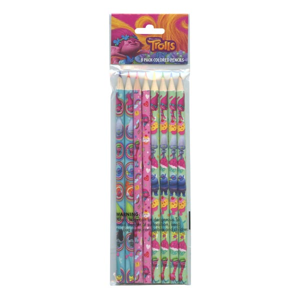 Master Toys Dreamworks Trolls Colored Pencils Pack