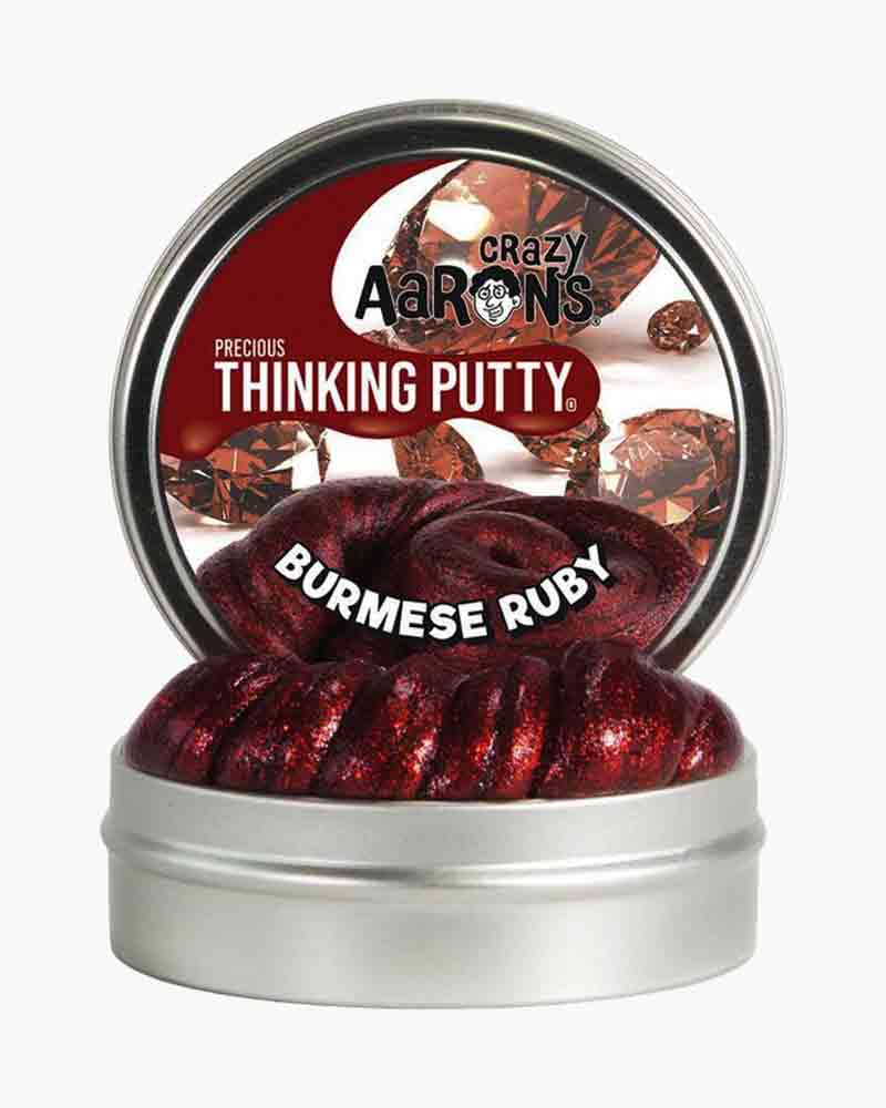 Crazy Aaron Burmese Ruby Precious Gems Thinking Putty