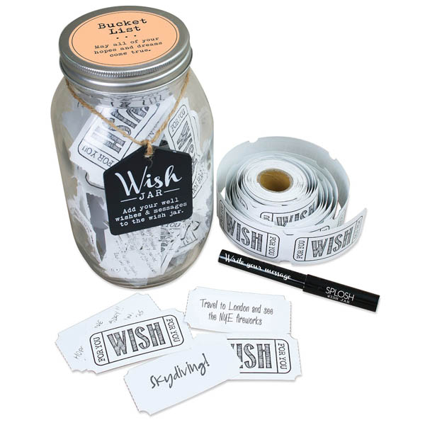 Splosh Bucket List Wish Jar