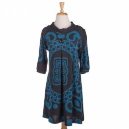 Papillon Teal Patterned Tunic