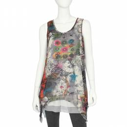 Papillon Sleeveles Graffiti Tunic