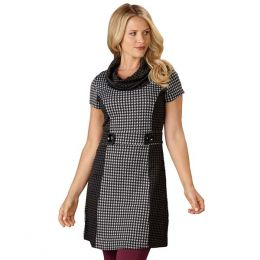 Papillon Houndstooth Dress