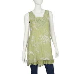 Papillon Lime Flower Tunic