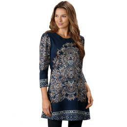 Papillon Scroll-Print Tunic