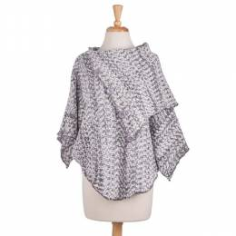 Papillon Button Poncho