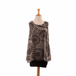 Papillon Circle Print Layered Tunic