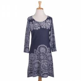 Papillon Circle Print 3/4-Sleeve Tunic