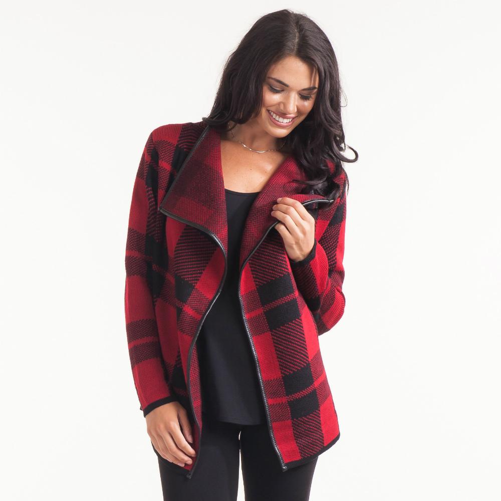 Papillon Buffalo Plaid Coatigan