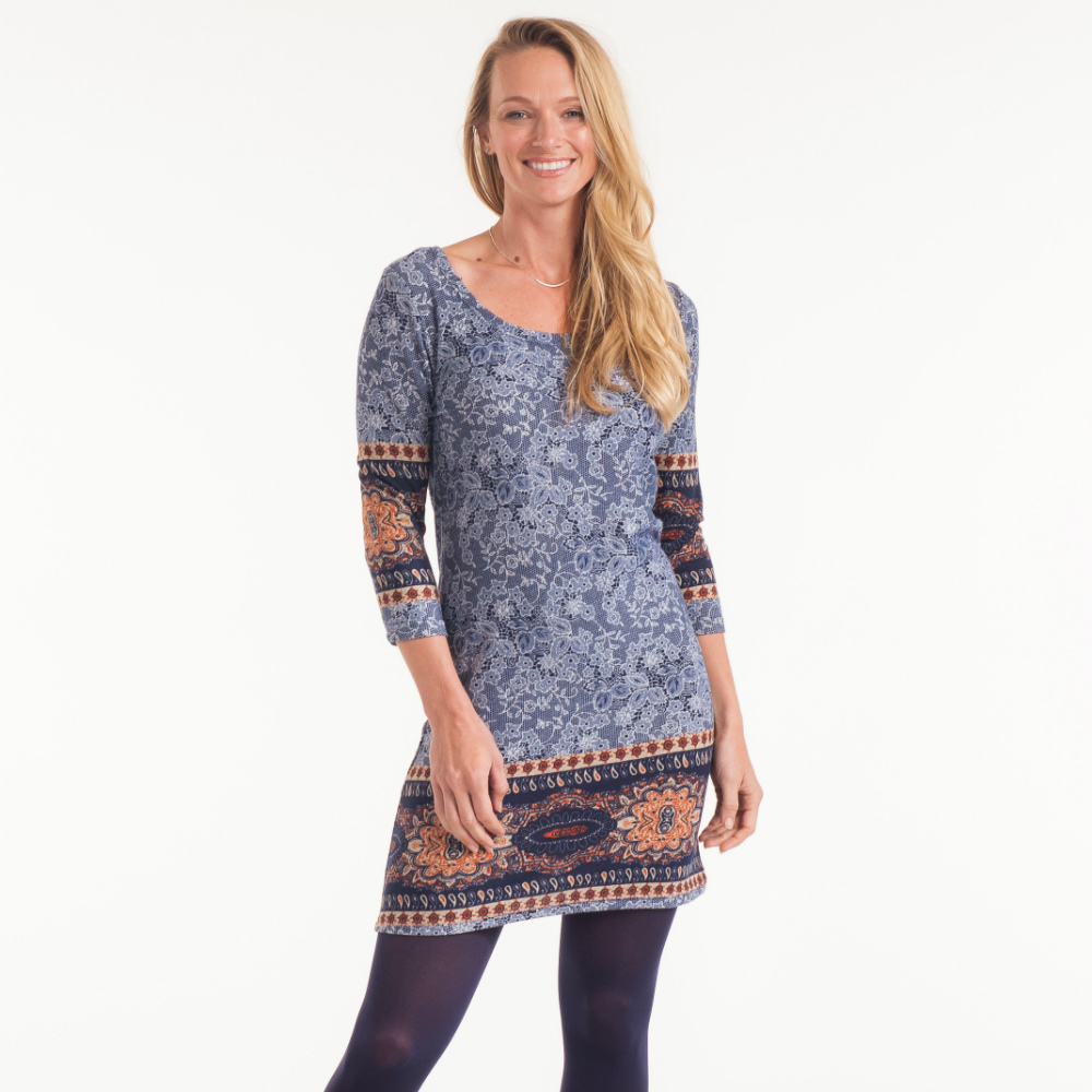 Papillon Medallion Shift Dress