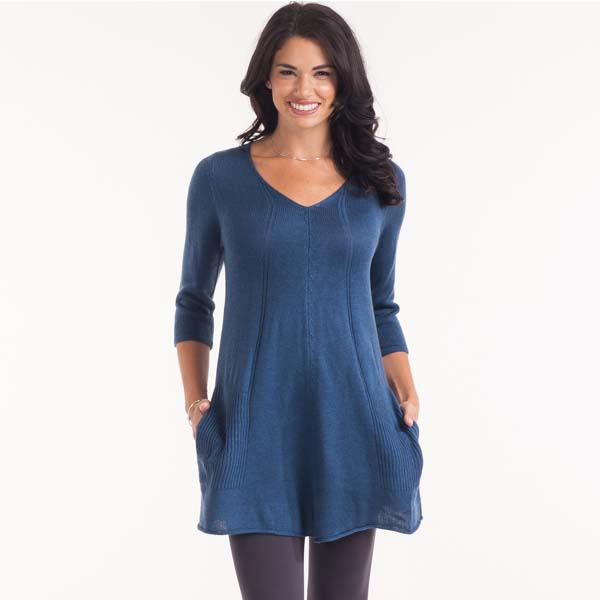 Papillon V-Neck Sweater Tunic