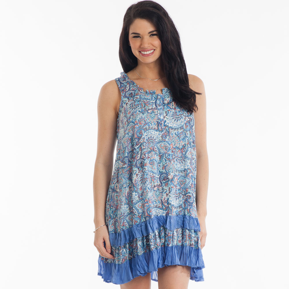 Papillon Sleeveless Ruffled Dress
