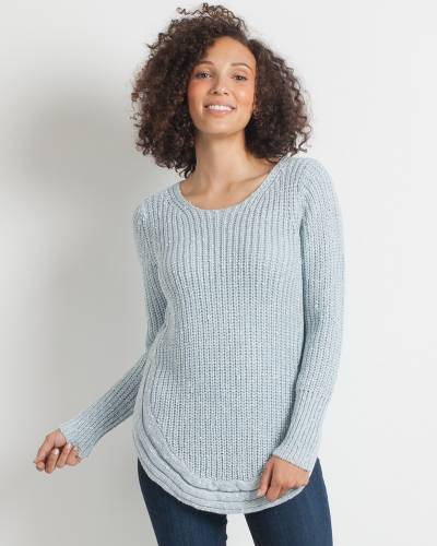 Knitted Round-Hem Sweater