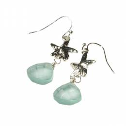 The Paper Store Sea Glass Earrings with Starfish