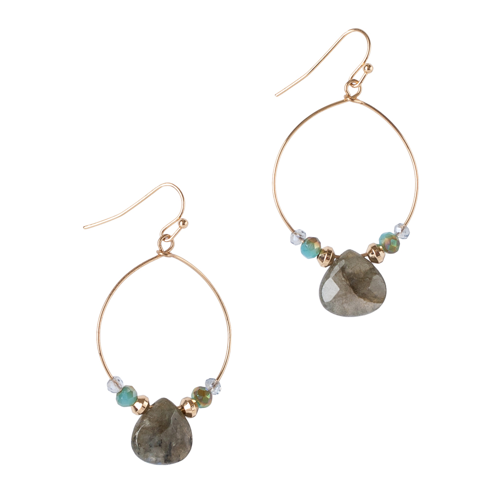 The Paper Store Stone Drop Earrings