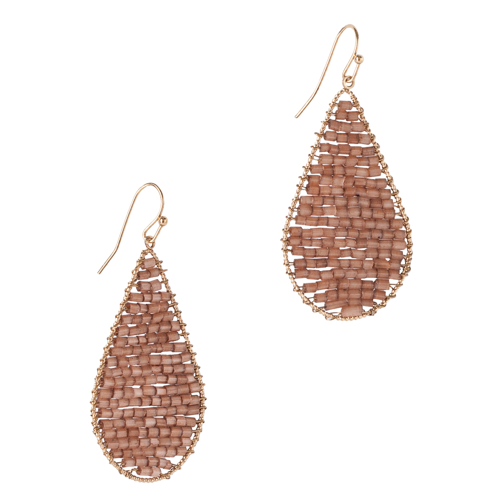 The Paper Store Beaded Teardrop Earrings