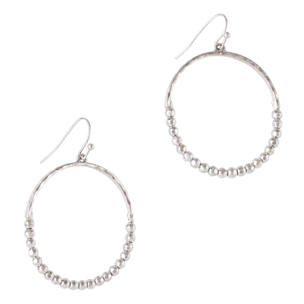 Mia and Tess Metal Hoop Earrings