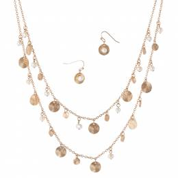 Mia + Tess Designs ™ Faux Pearl Necklace and Earrings Set