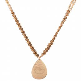Mia and Tess Wood Bead Double Layer Necklace