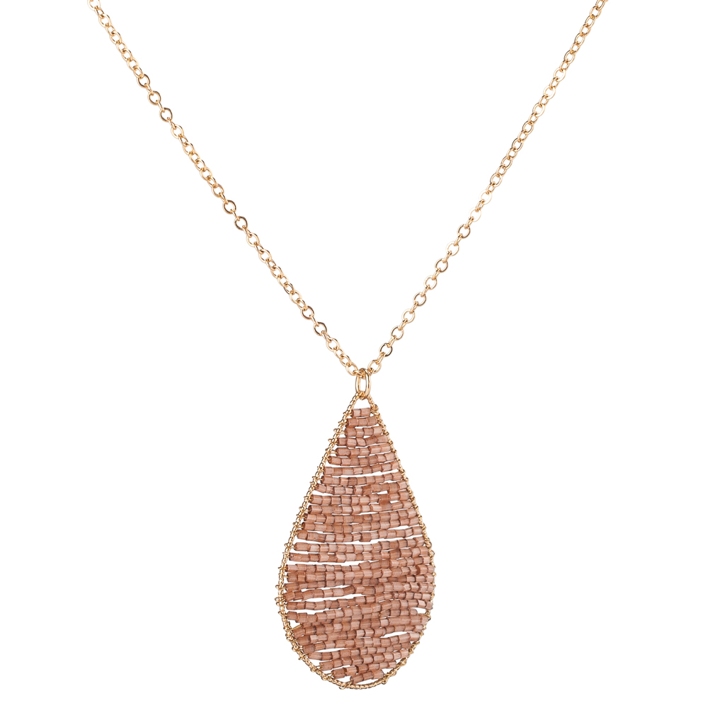 Mia and Tess Beaded Teardrop Necklace