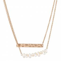 Mia and Tess Double Layer Bar Necklace