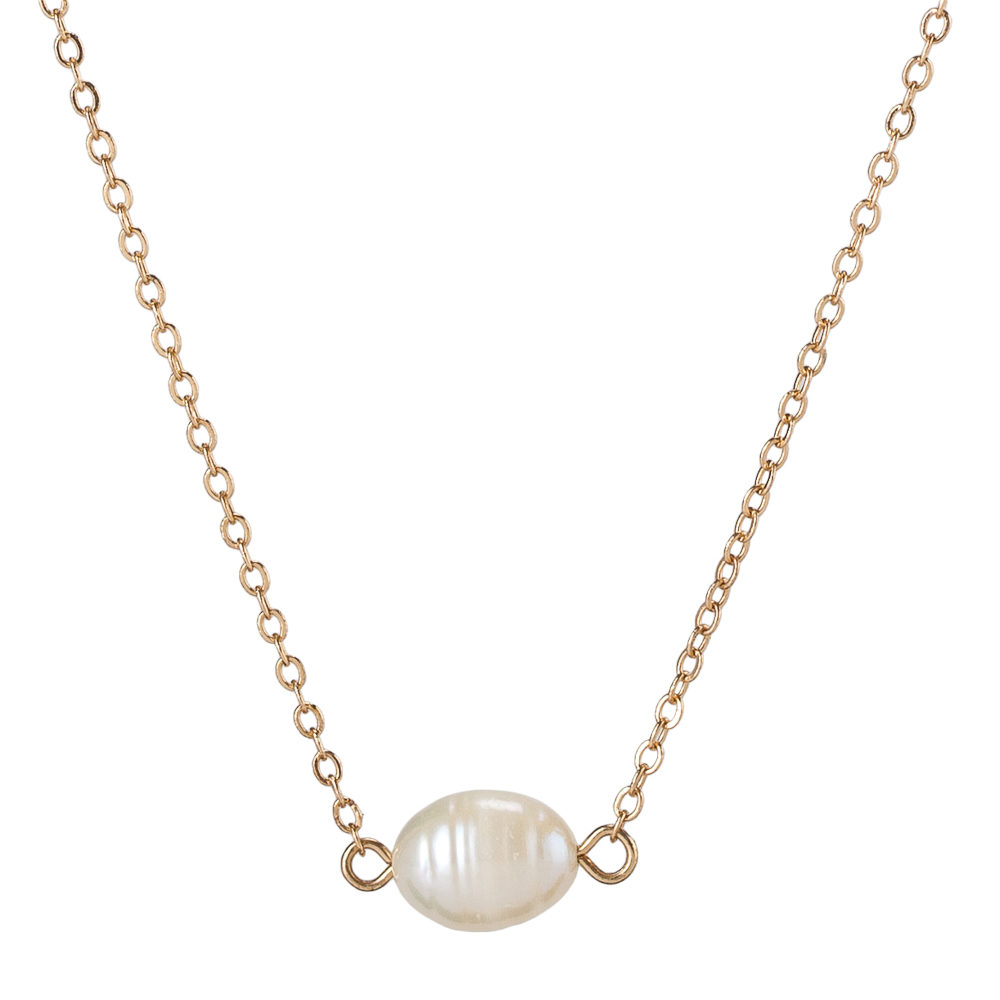 Mia and Tess Single Pearl Necklace