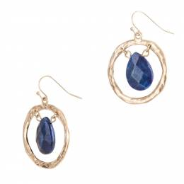 Influence Open Gold Ring and Teardrop Earrings in Sodalite