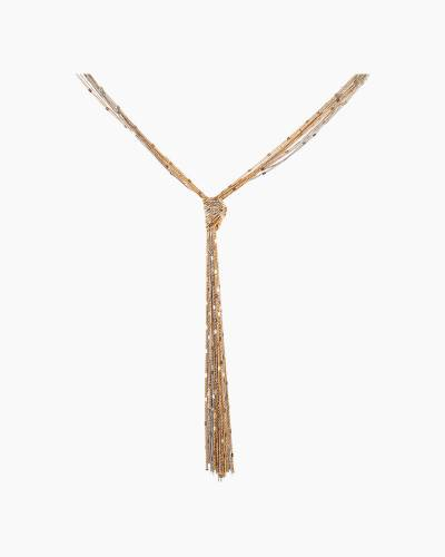 Two-Tone Knotted Tassel Necklace