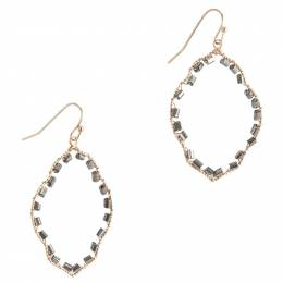 Mia + Tess Designs ™ Beaded Quatrefoil Earrings