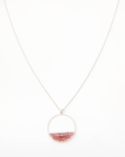 Exclusive Half-Beaded Hoop Necklace