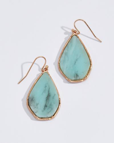 Amazonite Stone Teardrop Earrings