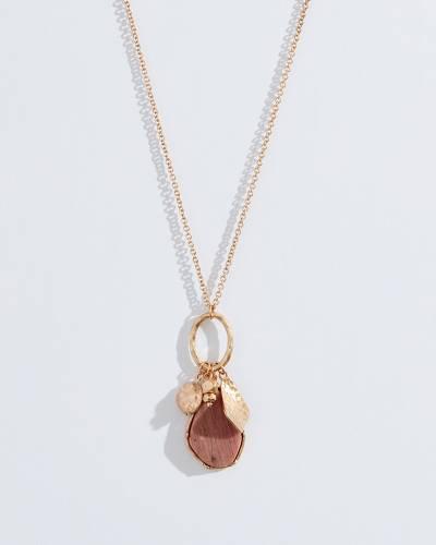 Exclusive Jasper Pendant Necklace in Gold