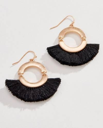 Fringe Drop Earrings in Gold