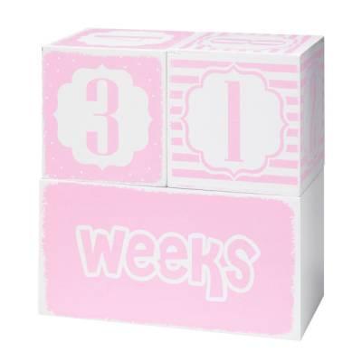 Pink Baby Keepsake Blocks