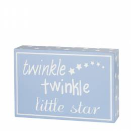 Adams & Co. Twinkle Twinkle Little Star Blue Wooden Box Sign