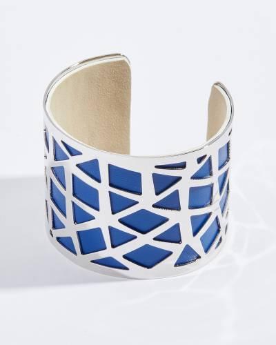 Cobalt Geometric Cutout Bangle