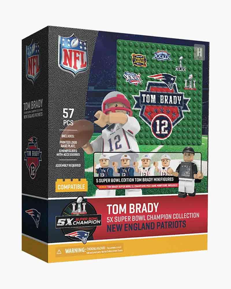 OYO Sportstoys Tom Brady 5X Super Bowl Champion Collection