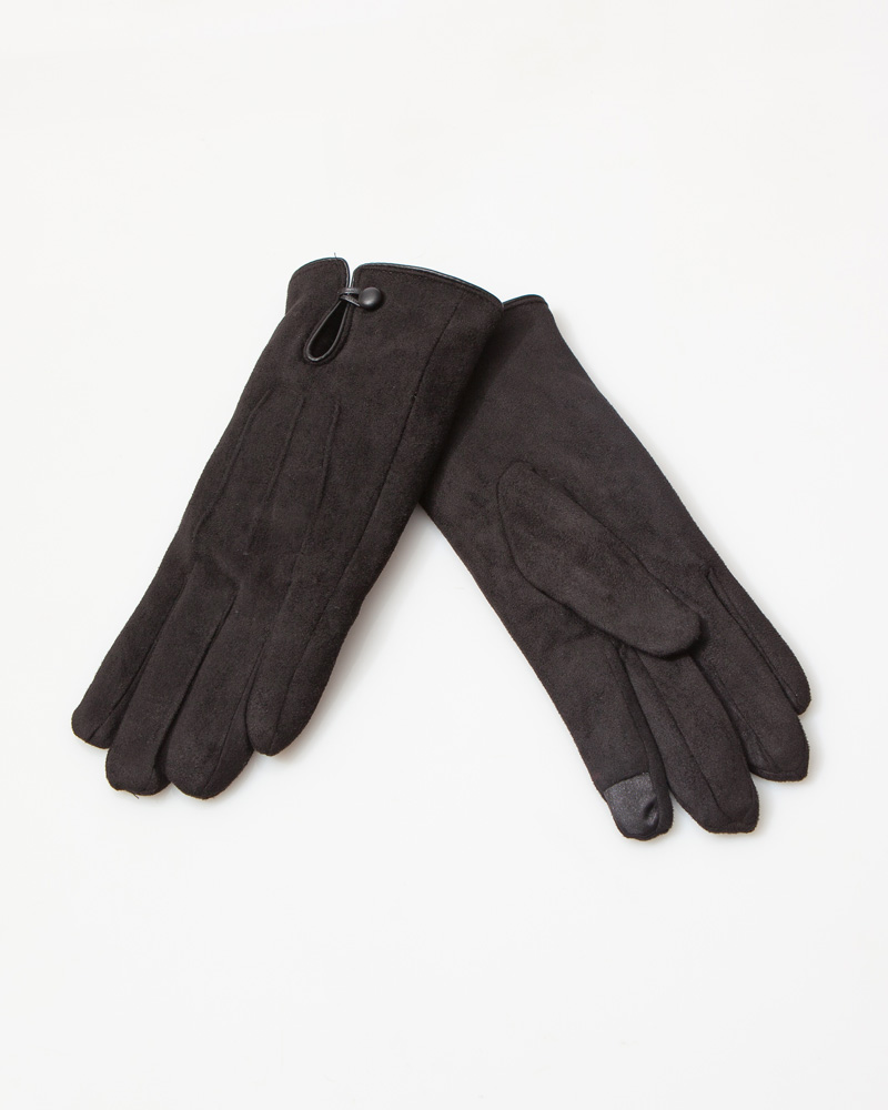 Look by M Faux Suede Gloves