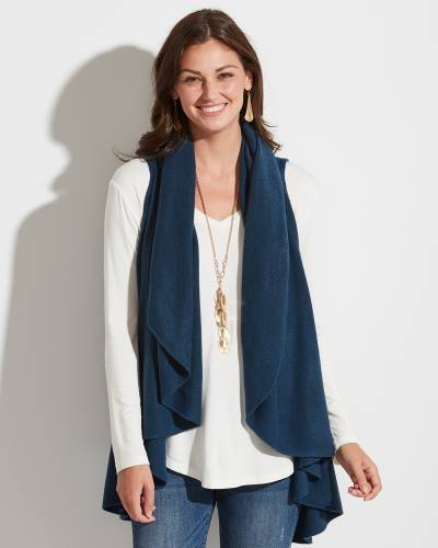 Exclusive Shawl Vest in Teal