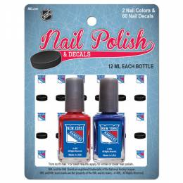 Worthy Promotional Products New York Rangers Nail Polish and Decals Set