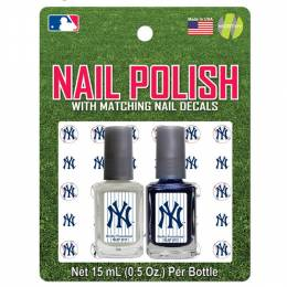 Worthy Promotional Products New York Yankees Nail Polish and Decals Set