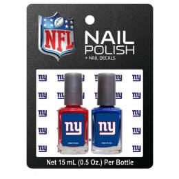 Worthy Promotional Products New York Giants Nail Polish and Decals Set