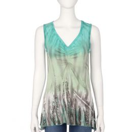 Parsley & Sage Green V-Neck Tank Top