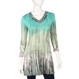 Parsley & Sage Green V-Neck Tunic